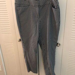 Blue/white ankle pants Sz 18